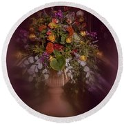 Round Beach Towel featuring the photograph Floral Arrangement No. 2 by Richard Cummings