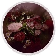 Round Beach Towel featuring the photograph Floral Arrangement No. 4 by Richard Cummings