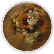 Round Beach Towel featuring the photograph Floral Arrangement No. 5 by Richard Cummings