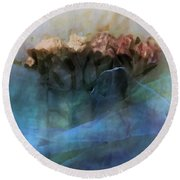 Floral Chiffon Round Beach Towel by Michele Carter