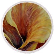 Floral Close Up Round Beach Towel