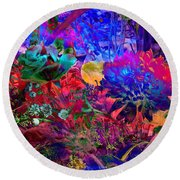 Floral Dream Of Summer Round Beach Towel