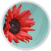 Floral Energy Round Beach Towel