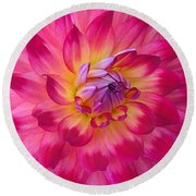 Floral Fantasia Round Beach Towel