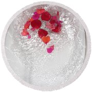 Floral Flush Round Beach Towel