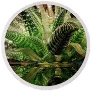 Floral In Glass Round Beach Towel