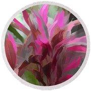 Floral Pastel Round Beach Towel by Tom Prendergast