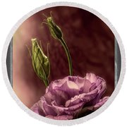 Floral Polaroid Transfer Round Beach Towel by Garry McMichael