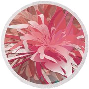 Floral Profusion Round Beach Towel