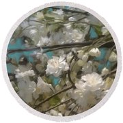 Floral01 Round Beach Towel