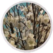 Floral02 Round Beach Towel