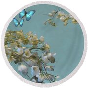 Floral04 Round Beach Towel