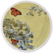 Floral05 Round Beach Towel