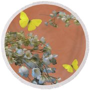 Floral06 Round Beach Towel