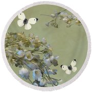 Floral07 Round Beach Towel