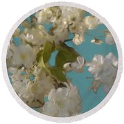 Floral09 Round Beach Towel