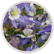 Floral3 Round Beach Towel by Cynthia Powell