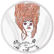 Florence And The Machine Round Beach Towel by Lucy Frost