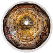 Florence Cathedral Round Beach Towel by Jean Haynes