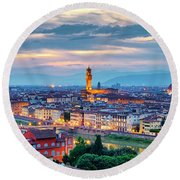 Round Beach Towel featuring the photograph Florence by Fabrizio Troiani