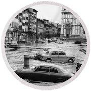 Florence: Flood, 1966 Round Beach Towel