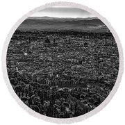 Florence From Fiesole Round Beach Towel by Sonny Marcyan