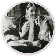 Florence Nightingale, English Nurse Round Beach Towel