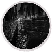 Florence Nights Round Beach Towel by Sonny Marcyan