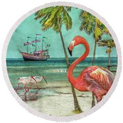 Round Beach Towel featuring the photograph Florida Advertisement by Hanny Heim