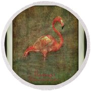 Round Beach Towel featuring the photograph Florida Art by Hanny Heim