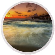 Florida Breeze Round Beach Towel