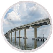 Florida Bridge Round Beach Towel