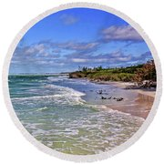 Florida Gulf Coast Beaches Round Beach Towel