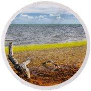 Florida Keys Colors Round Beach Towel