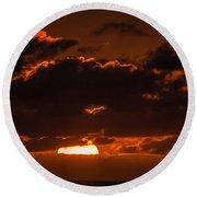 Florida Keys Sunrise Round Beach Towel