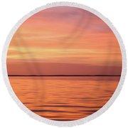 Florida Keys Sunset Impressions Round Beach Towel