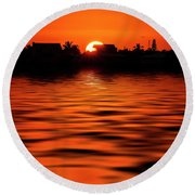 Florida Keys Sunset  Round Beach Towel by Kevin Cable