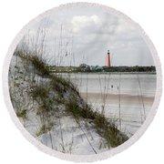 Florida Lighthouse Round Beach Towel