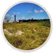 Round Beach Towel featuring the photograph Florida Lighthouse  by Kelly Wade