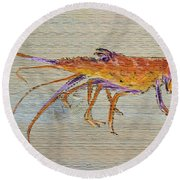 Florida Lobster Round Beach Towel
