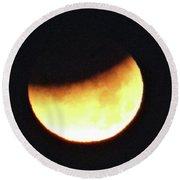 Florida Lunar Moon Eclipse 2018  Round Beach Towel