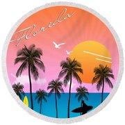 Florida  Round Beach Towel