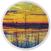 Florida Nature Paradise 2  Round Beach Towel