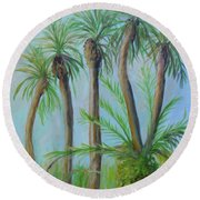 Florida Palms Round Beach Towel