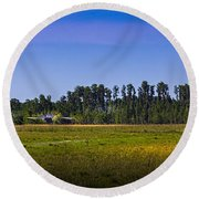 Florida Ranch Round Beach Towel by Marvin Spates