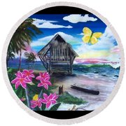 Florida Room Round Beach Towel