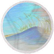 Florida Sand Dune Round Beach Towel