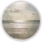 Florida Seascape Round Beach Towel