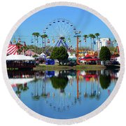 Round Beach Towel featuring the photograph Florida State Fair 2017 by David Lee Thompson