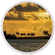 Florida Sunset-1 Round Beach Towel